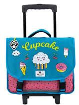 Wheeled Schoolbag 2 Compartments Pol fox Black fille FTRCA38