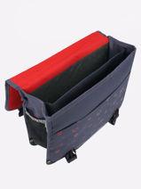 Satchel 2 Compartments Pol fox Red garcon GCA38-vue-porte
