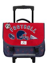 Wheeled Schoolbag Pol fox Red garcon GTRCA38