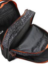 Backpack 2 Compartments With Free Pencil Case Emoji Black afraid EMR12090-vue-porte