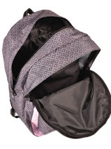 Backpack 2 Compartments With Matching Pencil Case Laissez lucie faire Pink flawless LFC12090-vue-porte