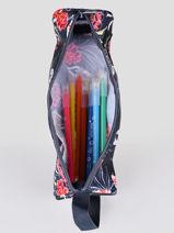Pencil Case 1 Compartment Roxy back to school RJAA3898-vue-porte