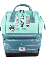 Backpack 1 Compartment Pol fox Blue garcon GSDFUTE