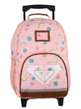 Wheeled Backpack 2 Compartments Roxy Pink kids RJBP3050