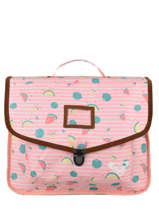 Satchel 1 Compartment Roxy Pink back to school RJBP3048