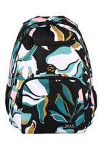 Backpack 2 Compartments Roxy Black kids RJBP4356