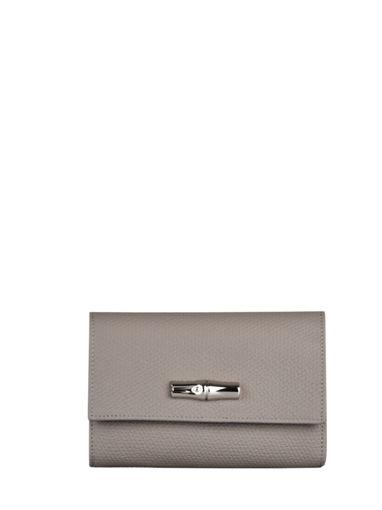 Longchamp Roseau Wallet Gray