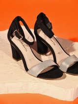 Sandales à talon en cuir-TAMARIS