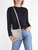 Longchamp Le foulonné Messenger bag Gray-vue-porte