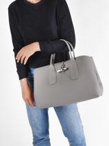 Longchamp Roseau Handbag Gray-vue-porte