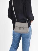 Longchamp Roseau Messenger bag Gray-vue-porte