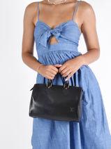 Top Handle Louis Vuitton Leather Brand connection Black louis vuitton 262-vue-porte