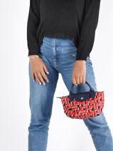 Longchamp Rodeo Handbag Red-vue-porte