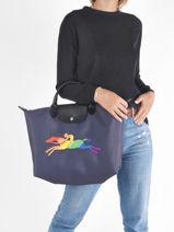 Longchamp Artist Clutches Blue-vue-porte