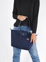 Longchamp Le pliage trÈs paris Hobo bag Blue-vue-porte