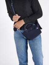 Longchamp Le pliage trÈs paris Handbag Blue-vue-porte