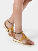 Sandales talon compense en cuir-TAMARIS-vue-porte