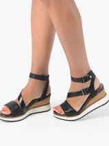 Sandales talon compensé-TAMARIS-vue-porte