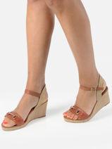 Sandals with wedge heel-TAMARIS-vue-porte