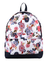 Backpack 1 Compartment Roxy White back to school RJBP4366