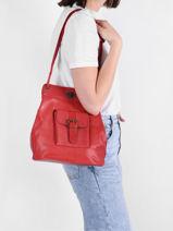Shoulder Bag Vintage Paul marius Red vintage 1950-vue-porte