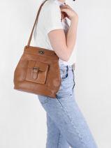 Shoulder Bag Vintage Paul marius Brown vintage 1950-vue-porte