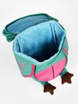 Backpack Affenzahn Green small friends AFZ-FAS2-vue-porte