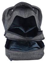 Wheeled Backpack Sari 2 Compartments Kipling Blue back to school 16310-vue-porte
