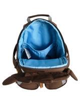Backpack Affenzahn Brown large friends FAL1-vue-porte