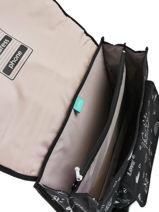 Satchel 2 Compartments Kipling Black back to school / pbg PBG12074-vue-porte