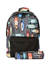 Backpack With Matching Pencil Case Rip curl Black surfboard collection BBPCC3SC