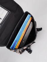 Cartable 2 Compartiments Rip curl Noir surf gypsy black LBPQF1SG-vue-porte