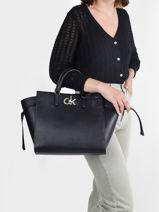 Sac Trapeze Sportswear Calvin klein jeans Noir sportswear K608285-vue-porte