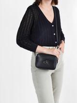 Shoulder Bag Sportswear Calvin klein jeans Black sportswear K608287-vue-porte