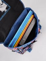 Satchel 1 Compartment Rip curl Blue havana floral LBPQE1HF-vue-porte