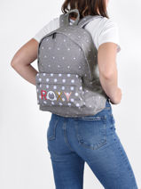 Backpack 1 Compartment Roxy Gray back to school RJBP4354-vue-porte