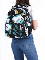 Backpack 2 Compartments Roxy Black kids RJBP4356-vue-porte