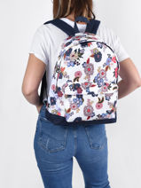 Backpack With Free Pencil Case Roxy White back to school RJBP4366-vue-porte