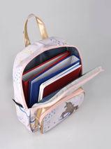 Mini Backpack Belle Rentrée Mini Fille Caramel et cie Pink mini fille F-vue-porte
