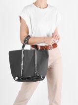 Medium Tote Bag Le Cabas Sequins Vanessa bruno Gray cabas 1V40413-vue-porte