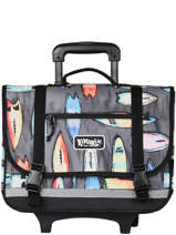 Wheeled Schoolbag 2 Compartments Rip curl Black surfboard collection BBPCH3SC