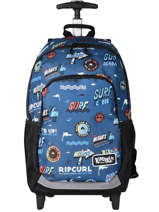 Wheeled Backpack 2 Compartments Rip curl Blue surfboard collection BBPCE3SS