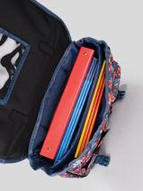 Wheeled Schoolbag 2 Compartments Rip curl Blue havana floral LBPQD1HF-vue-porte