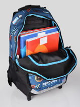 Wheeled Backpack 2 Compartments Rip curl Blue surfboard collection BBPCE3SS-vue-porte