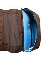 Schoolbag 1 Compartment Affenzahn Brown large friends CAR1-vue-porte