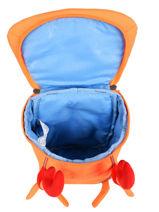 Backpack 1 Compartment Affenzahn Orange small friends NES1-vue-porte