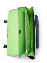 Satchel 2 Compartments Kipling Gray back to school 12074-vue-porte