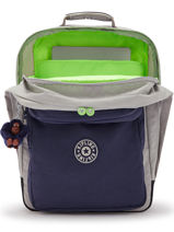 Backpack 2 Compartments Kipling Gray back to school - 00017131-vue-porte