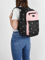 Backpack 3 Compartments Roxy Pink back to school RJBP4358-vue-porte