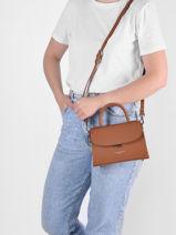 Leather Crossbody Bag Smooth Even Lancaster Pink smooth even 16-vue-porte